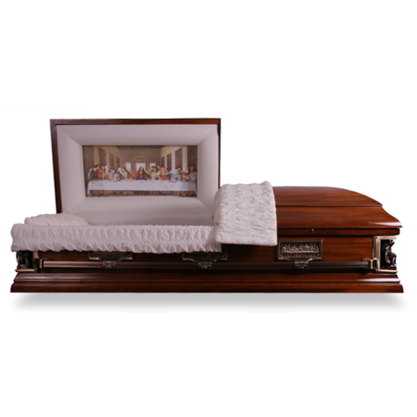 The Last Supper Casket. Save £700 with our Discount Caskets